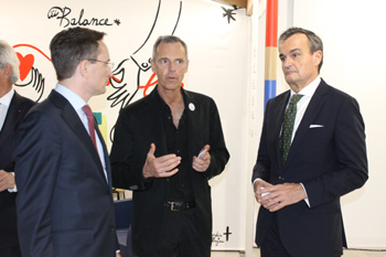 Consul general of France, Clément Leclerc, Jean-Paul Bath Executive Director of the VIA and Gérard Araud, Ambassador of France to the U.S. - JPEG