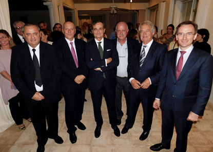 From left to right: French delegates abroad, Franck Bondrille and Xavier Capdevielle, French Ambassador, Gérard Araud, FIPA's President, Roger Pardo, French Delegate, Jacques Brion, and Consul general, Clément Leclerc. - JPEG
